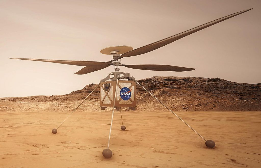 """NASA's drone helicopter on Mars, """"Ingenuity"""""""