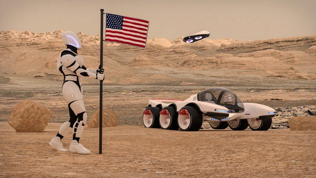 NASA Drone and Vehicle Concept Art